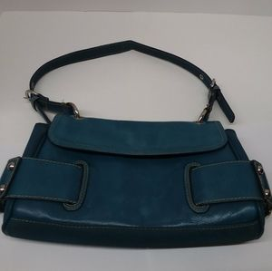 Franco Sarto Women's Shoulder Bag Leather Aqua